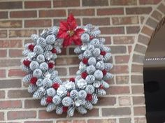 wreath made of pine cones, christmas decorations, crafts, seasonal holiday decor, wreaths