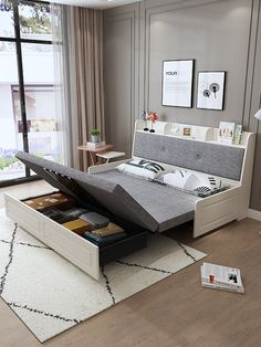 Home Decor Video Bedroom interior small sleeping sofa bed furniture Sofa Cumbed Design, Living Room Sofa Design, Bedroom Bed Design, Home Room Design, Bedroom Furniture Design, Bed Furniture, Space Saving Bedroom Furniture, Furniture For Small Bedrooms, Small Bedroom Interior