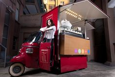 Ape food cart / #rollingkitchens #foodcart