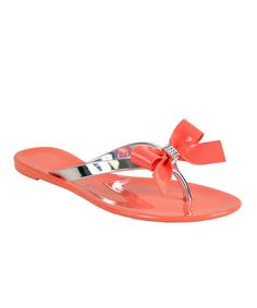 450b1a6cb934d Nomad Footwear Coral   Silver Pixie Jelly Flip-Flop