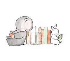 Friends and Books // 20 prints for your little bookworm
