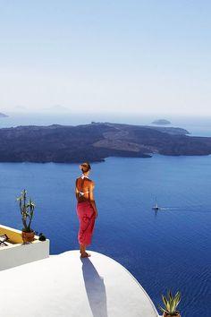 Santorini, Volcano watching