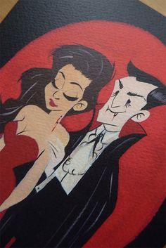 Dracula Illustration by CaptainChants on Etsy