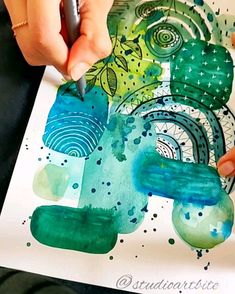Art marks and doodles on Watercolor abstract painting.Music: Libre Musician: Art marks and doodles on Watercolor abstract painting. Watercolor Paintings Abstract, Gouache Painting, Watercolor And Ink, Shape Art, Abstract Shapes, Abstract Art For Kids, Abstract Wall Art, Art Journal Inspiration, Bedroom Inspiration