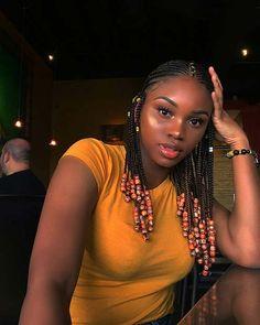 Medium Fulani Braids with Beads # ombre Braids with beads 45 Hot Fulani Braids to Copy This Summer Box Braids Hairstyles, Braided Ponytail Hairstyles, Braided Hairstyles For Black Women, Braided Hairstyles Tutorials, African Hairstyles, Blonde Box Braids, Black Girl Braids, Braids For Short Hair, Girls Braids