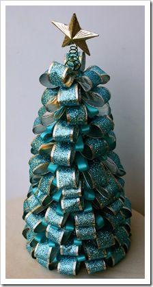 Ribbon Christmas tree decoration