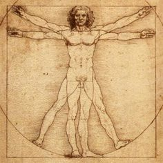 """The Vitruvian Man: Le proporzioni del corpo secondo Vitruvio"" - Leonardo da Vinci, c.1490. Happy Birthday Leonardo!"