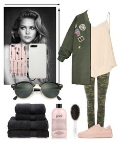 """""""punk pink green"""" by anafilipafonseca2004 on Polyvore featuring True Religion, Alice + Olivia, WithChic, Axel Arigato, Christy, philosophy, Leonor Greyl and Ray-Ban"""