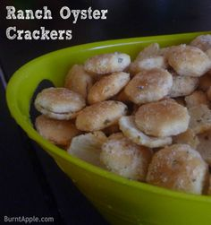 ranch oyster crackers- these are so simple!