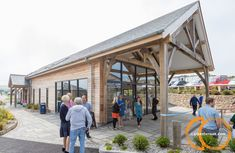 A new oak framed reception area and additional accommodation at Polmanter Touring Park, close to our Cornish Yard. Local Contractors, St Ives, Reception Areas, Cornwall, Touring, Yard, Building, Outdoor Decor, Home Decor