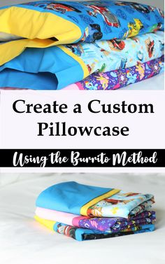 Sewing For Beginners Projects Super simple way to sew up a pillowcase quickly with the burrito method Sewing Basics, Sewing Hacks, Sewing Tutorials, Sewing Crafts, Sewing Tips, Sewing Ideas, Basic Sewing, Tutorial Sewing, Love Sewing