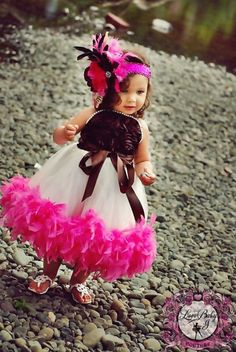 A Lifetime Of Memories... The Satin Rosette Feather Lined Tutu Dress