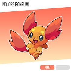 022 Bonzumi by zerudez on DeviantArt Pokemon Luna, Pokemon Show, Pokemon Eeveelutions, Pokemon Fan Art, Draw Pokemon, Pokemon Fake, Pokemon Fusion, Cute Monsters Drawings, Pokemon Breeds