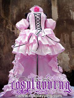 Chobits Cosplay Costume Chii Lolita Purple New Dress b859fe53ee85
