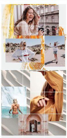 Insta Layout, Instagram Feed Layout, Instagram Collage, Instagram Grid, Instagram Design, Picture Layouts, Grid Layouts, Website Layout, Grid Design