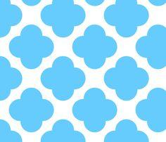 Trellis Aqua fabric by natitys on Spoonflower - custom fabric