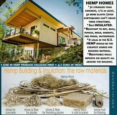 Hempcrete can change the way we build everything: CNN report on eco friendly sustainable hemp house built in Asheville, NC. Benefits include carbon negative construction, breathability, and reduced cost of heating and cooling. Imagine you had a buildin Natural Building, Green Building, Cannabis, Medical Marijuana, Save Our Earth, Help The Environment, Earthship, Building Materials, Building Systems