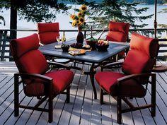 Tropitone Lakeside Cushion Dining Set | LKCDS