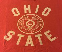 Ohio State Buckeyes XXL Short Sleeve Tee T-Shirt 2XL J1 #UniversityT #OhioStateBuckeyes