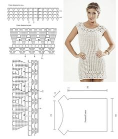 crochet top chart/pattern