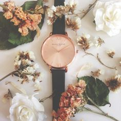 Our New Big Dial Khaki Saffiano and Rose Gold is a 'blooming' beauty <3 #oliviaburton