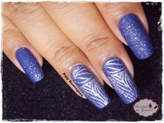 Blue Persuasion - Sinful Colors carimbado com YZWLE 08 #esmaltadasdapatydomingues #carimbada #sinfulcolors