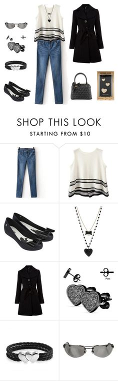 """""""I Heart B&W"""" by absolutely-amy ❤ liked on Polyvore featuring Chicnova Fashion, Melissa, Betsey Johnson, Izabel London, West Coast Jewelry, Bling Jewelry, Chrome Hearts, Michael Kors, hearts and blackandwhite"""