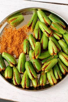 ivy gourd stuffed with curry powder for andhra style dish
