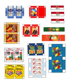 Free Printable Dollhouse grocery fullpage 004                                                                                                                                                                                 More