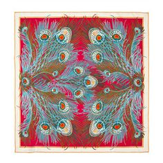Liberty London Scarves Fuchsia Hera Print Silk Scarf