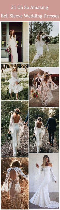 21 Oh So Amazing Bell Sleeve Wedding Dresses #weddings