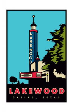 Lakewood Theatre in Dallas, TX by local talent Walter E. Soza