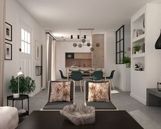 Living room and dining room e-decor project by Eleni Psyllaki My Paradissi