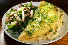 The Chubby Vegetarian: Fluffy Herbed Omelette (For Two)