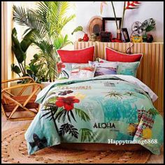 Linen House Honolulu Hawaii Vintage Cotton 3pc Queen Quilt Doona Cover SET | eBay