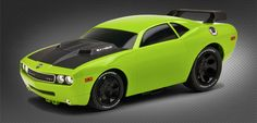 Customizable toy car @ RIDEMAKERZ! Dodge Challenger - Sublime. Build the 21st Century muscle legend!