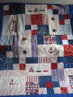 Red, White & Blue Seaside Quilt. £125.00, via Etsy.