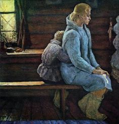 B. Nemenskiy. The last letter. Interior Art, Painting, Socialist Realism, Beautiful Paintings, Letter Art, Russian Impressionism, Soviet Art, Art, Portrait Painting