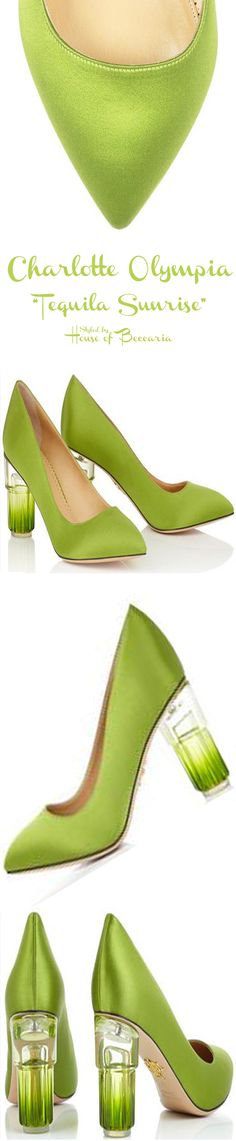 """~Charlotte Olympia - Cruise 2015,""""Tequila Sunrise"""" Satin Pumps 