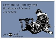 YES! I ALWAYS cry at the end of the book when the guy dies. :'( And I cry during like EVERY episode of Vampire Diaries! I Love Books, Good Books, Books To Read, My Books, Way Of Life, The Life, Story Of My Life, Real Life, Superwholock