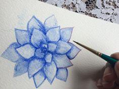 Watercolor succulent tutorial – Part 1 – Life-athon
