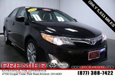 Browse pictures and detailed information about the great selection of 169 new Toyota cars, trucks, and SUVs in the Premier Toyota of Amherst online inventory. Used Toyota Camry, Toyota Camry For Sale, Toyota Cars, North Olmsted, Avon Lake, North Ridgeville, Cleveland Ohio, Scion, Cars For Sale
