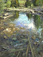 """Summer Reflection by Mike Wise Oil ~ 16"""" x 12"""""""