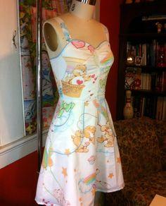 Upcycled Care Bears Pin UP Dress by BongaChopShop on Etsy