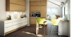 warm tone kitchen