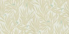 Lauren (110199) - Harlequin Wallpapers - A stunning design with bushes of leafs simplified - showing in green with a hint of blue on off white. other colour ways available. Please request a sample for true match. Paste-the-wall product.