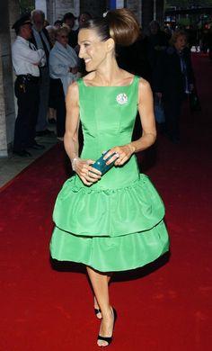 May 5, 2004 Where: At the New York City Ballet Spring Gala. What: Dress by Oscar de la Renta.