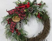 Christmas Wreaths for Front Doors by WhimzyTreeCo on Etsy
