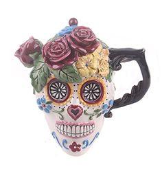 Halloween y dia de muertos: Blue Sky Ceramic Day of the Dead Sugar Skull Teapot, 7.25... https://www.amazon.com.mx/dp/B01K6NVHKW/ref=fastviralvide-20