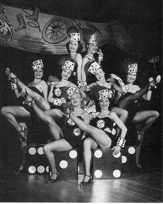 Vintage Vegas showgirls. 1950's